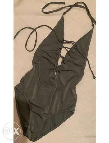 olive green shimmery swimsuit