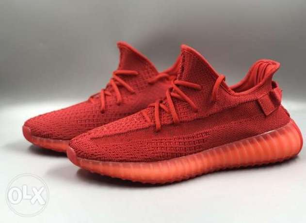adidas Yeezy Boost 350 V2 ALL RED original running shoes ready stock