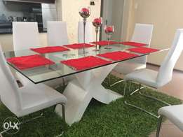 Modern Dining room set, matching coffee table & tv stand