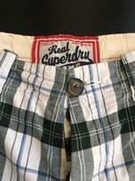 Superdry men's shorts size medium, as new,