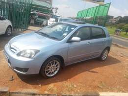 Excellent condition 2007 Blue Toyota Runx 2.0 RSI with a sunroof