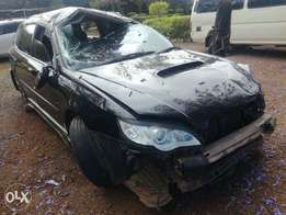Subaru legacy KCG with damaged front part
