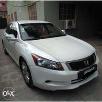 Very Clean White Honda Accord 2008 with Chilling AC and Import Duty.