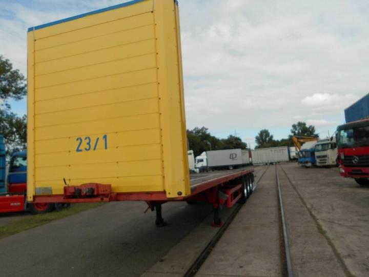 Schmitz Cargobull S01, Plateau, BWP Achsen - 2000