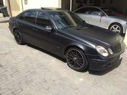 "2005 Mercedes Benz E200 with sunroof, 19"" AMG rims"