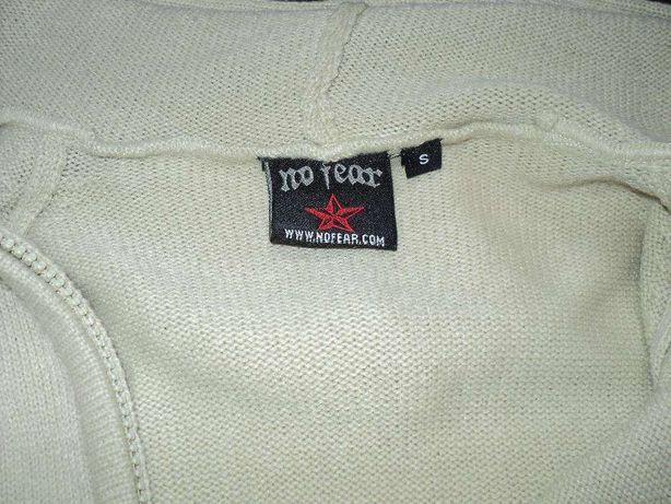 No Fear bluza z kapturem full zip rozpinana elegancka S stan