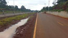1/4 acre touching southern bypass near Dagoretti Karen Junction At 13M