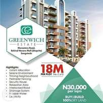 Greenwich Estate at sangotedo with title: C of O