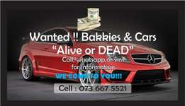 Bakkies & Cars WANTED