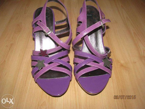 314438975c6e6 Fioletowe szpilki sandały r.38 BATA Żory - image 1