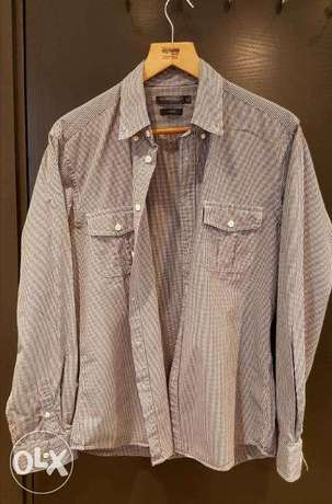 brand sportscraft check shirt for men perfect condition size Medium