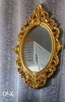 Crown top Gold console wall mirror