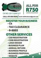 Register your Business today R750