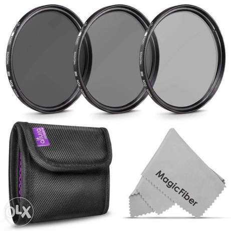 Altura Photo 52MM & 58mm ND2 ND4 ND8 Neutral Density Filter Kit