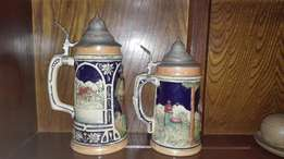 Old German Beer Mugs