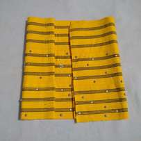 Yellow-Blue, Pre designed and Embellished Aso Oke Set