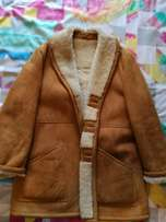 John Stephan Sheepskin coat