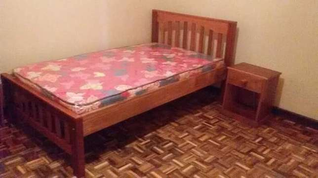 Wooden bed with mattress Ngara - image 2