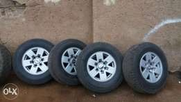 Ford ranger 5 mag rims and tyres for sale
