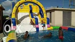 Castles water slides pools