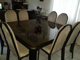 8 Seater Glass Top Diningroom suite
