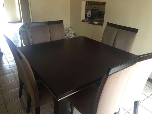 Heavy Duty Very Solid Business Table Dining Room Set With 8 Chairs
