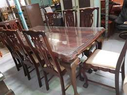Ball & Claw dining table + chairs