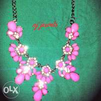 pink Charming neckpieces