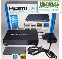 HDMI Switch 4 way New, (4in, 1out) Full HD, 3D, remote