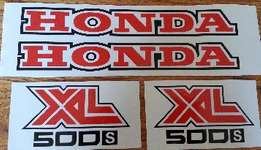 1980 Honda XL 500S tank and side panel decals