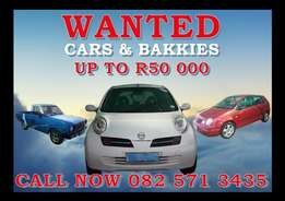 *Buy and Sell Cars and Bakkies under R50 000*