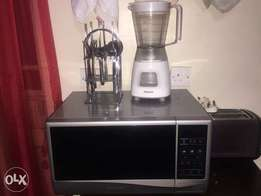 Samsung microwave,philips blender and toaster