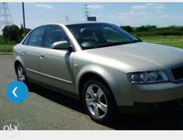 Please note, i Need an Audi A4 from 2004 model