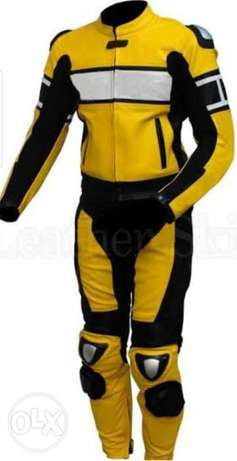 Safety suit for bikers.natural leather