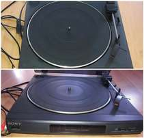 Sony Turntable and 17 LP records