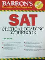 Barron SAT critical reading workbook
