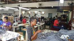 Clothing factory for sale