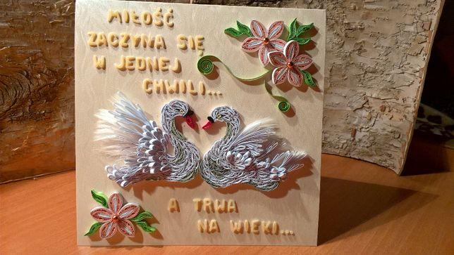 Topnotch Kartki Ślubne, ręcznie robione, quilling Sosnowiec • OLX.pl FI62