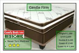Restonic Gentle firm queen sets at factory low prices!