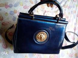 Blue Mirror Versace Handbag