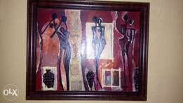 African mixed media art for sale