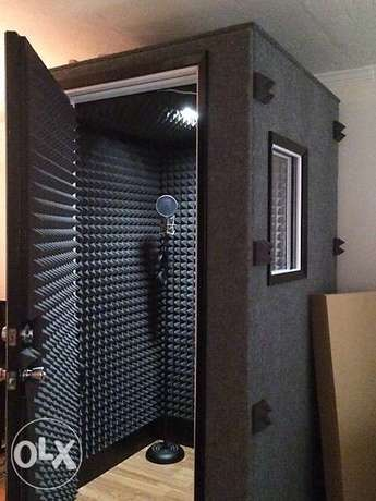 فوم عازل للصوت Vocal booth build