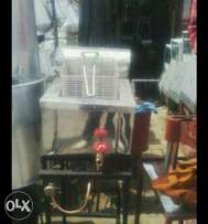 Single Deep fryer gas oparated