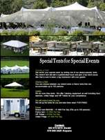 Tents and Events Equipment for your special occasion for hire