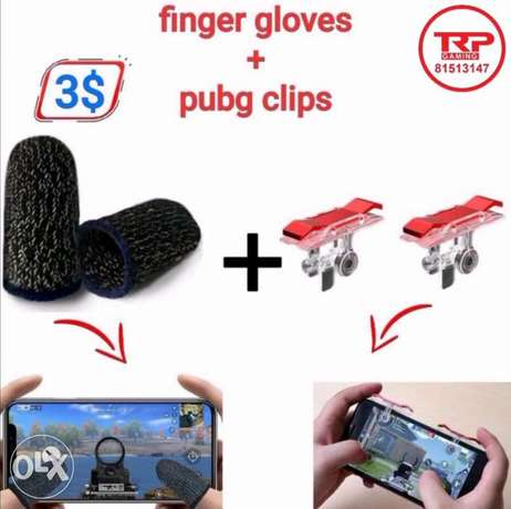Finger Gloves with pubg clips