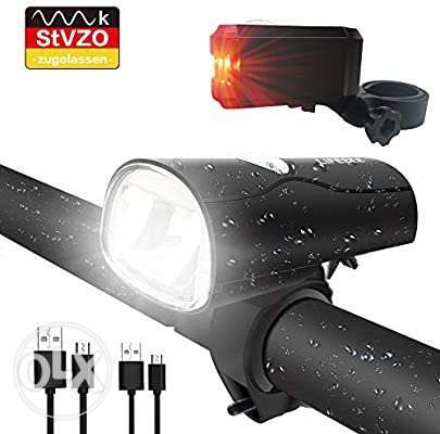 LIFEBEE LED Bicycle Light, LED Bicycle Light, StVZO Approved USB