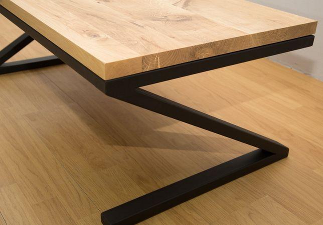 Stolik Kawowy Drewno ława Stal Dębowy Loft Industrialny Dąb