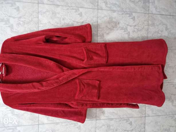 Pure red bathrobe rarely used almost new