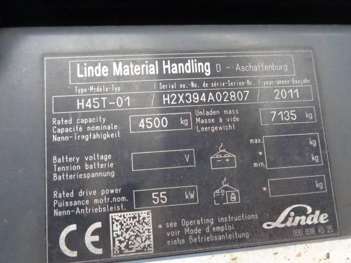 Linde h45t-01 + 4 points + 4.5ton h45t - 2011 - image 12