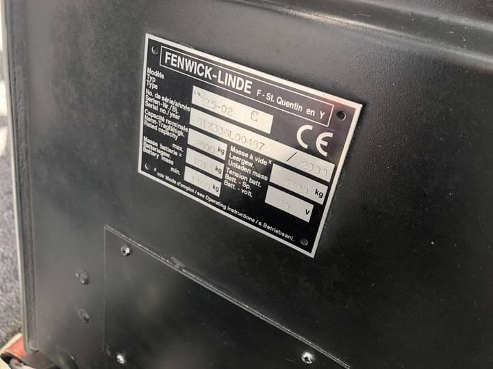 heftruck LINDE E25-02 duplo455 sideshift forkpositioner... - 2000 - image 8
